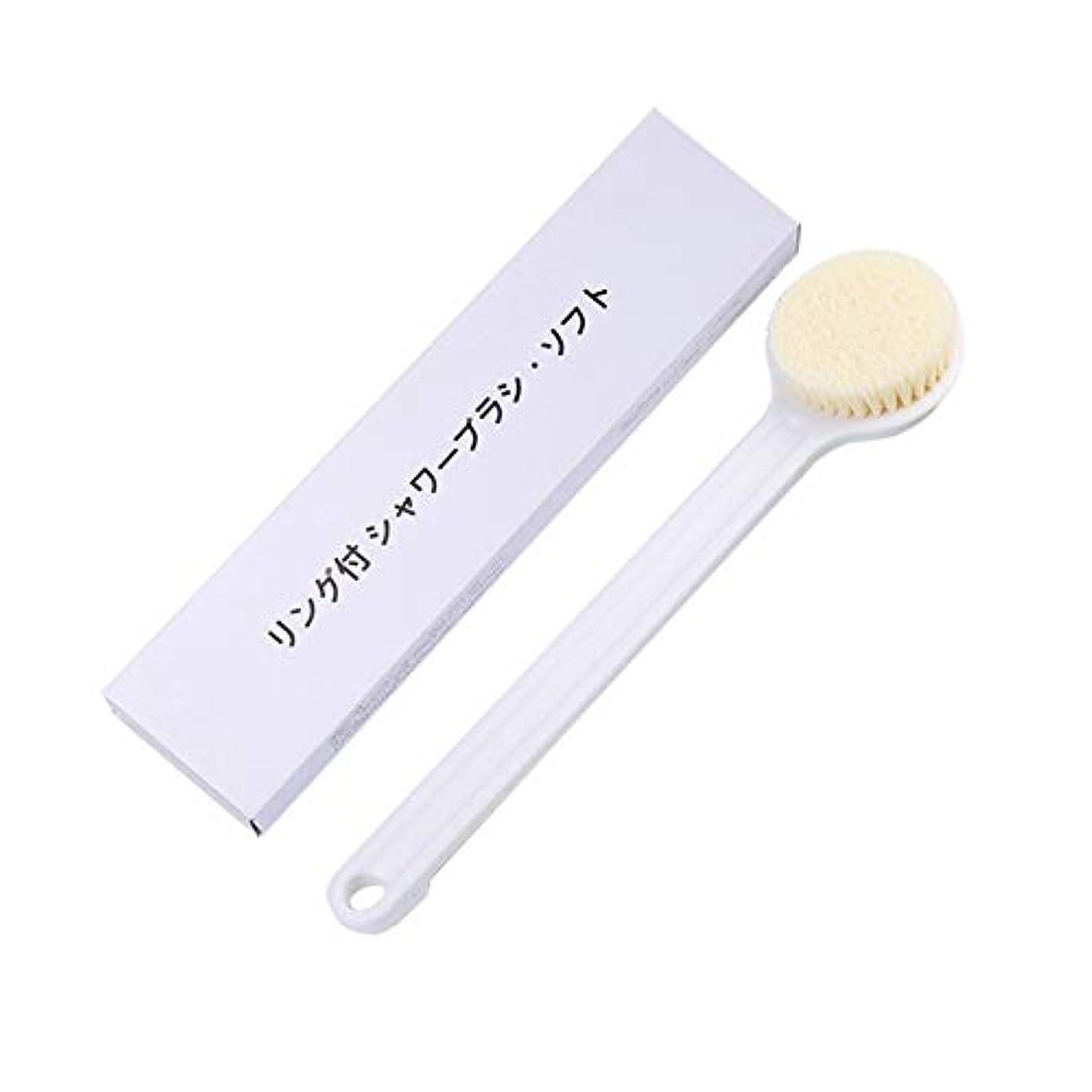 フェードアウト規定キャンディーLITI ボディブラシ ソフトヘアアンチスリップロングハンドル 背中ブラシ お風呂 シャワーブラシ 背中まで届く 長柄 体 洗い