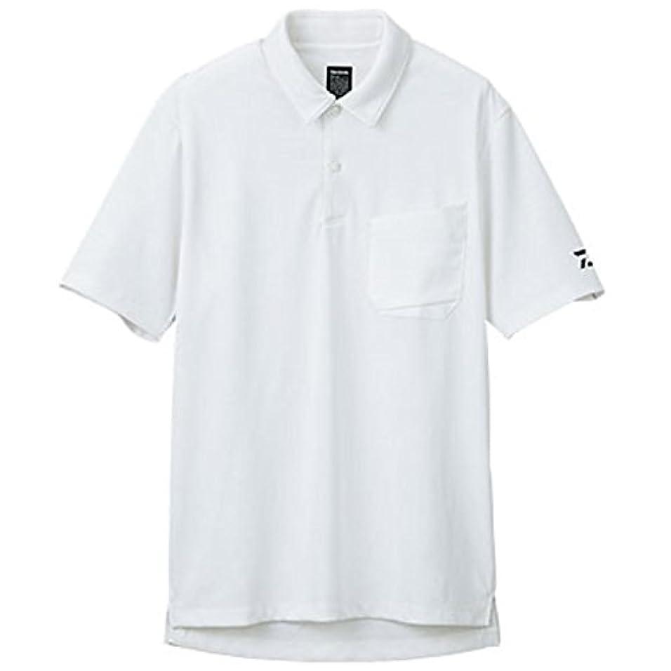 解任効能ある津波ダイワ BUG BLOCKER 防蚊ポロシャツ DE-5006 ホワイト