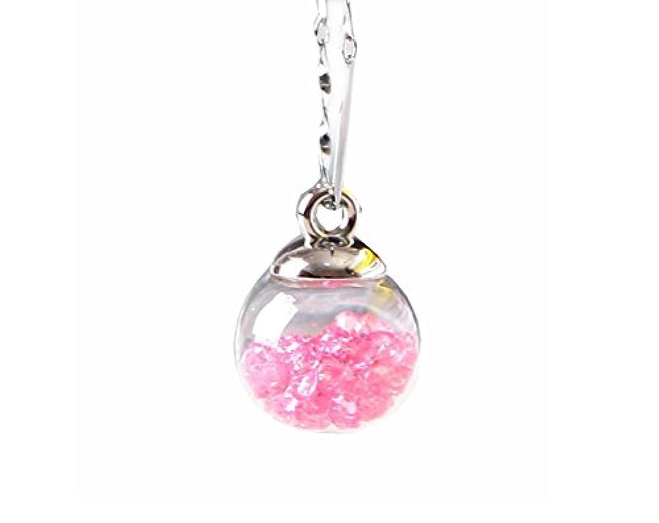 おばさんアレキサンダーグラハムベル急ぐ女の子のためのペンダントネックレス特別なスタイルのドライフラワーネックレス - ピンク