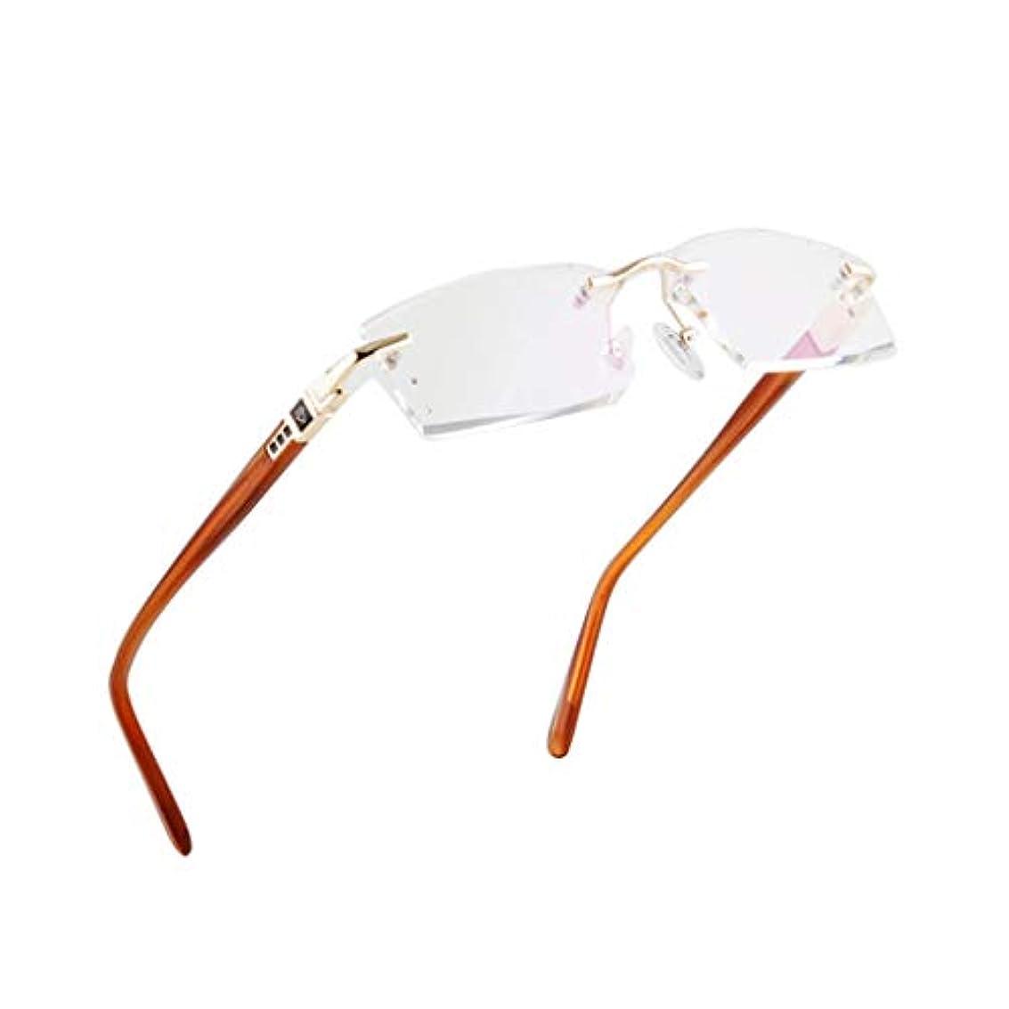 縁なしの老眼鏡、スーパーライトチタンアイウェアの男性女性の日曜日の読者の老眼鏡 - 年配者のためのよいギフト
