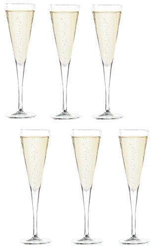 アデリア シャンパングラス クリア 160ml ルイジボルミオリ シャンパン160 C417 6脚セット クリスタルガラス製 イタリア製 J-6464