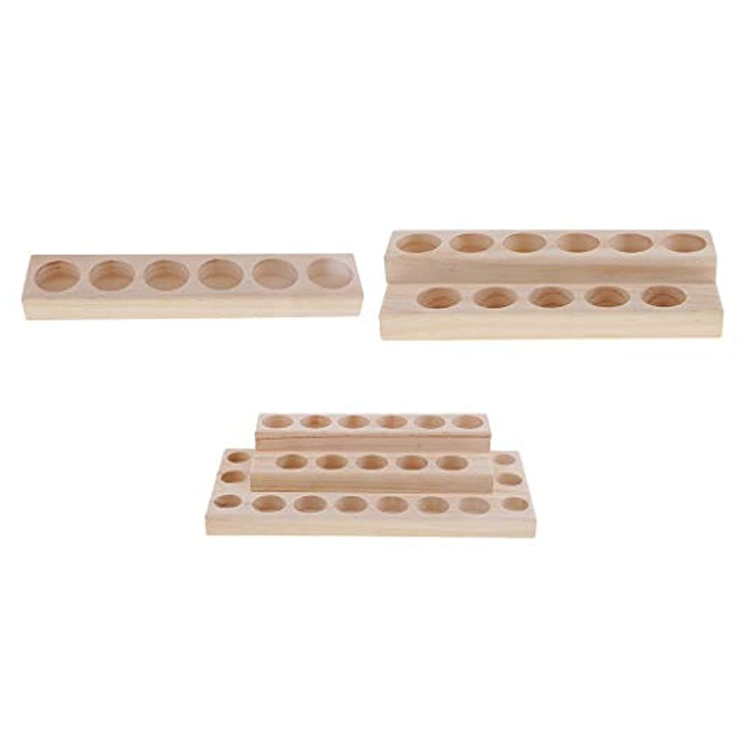 休憩するレイプコーン木製 収納ボックス 収納ケース 香水 精油 エッセンシャルオイル 化粧品ボトル 収納 3個入り