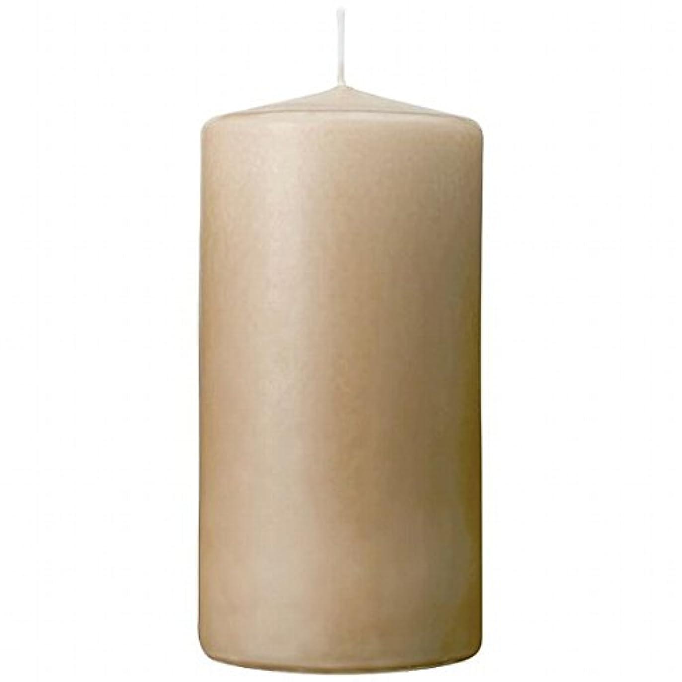 エトナ山誠実お酒カメヤマキャンドル(kameyama candle) 3×6ベルトップピラーキャンドル 「 ベージュ 」