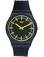 Swatch Men's Giallonero GB304 Black Silicone Quartz Fashion Watch