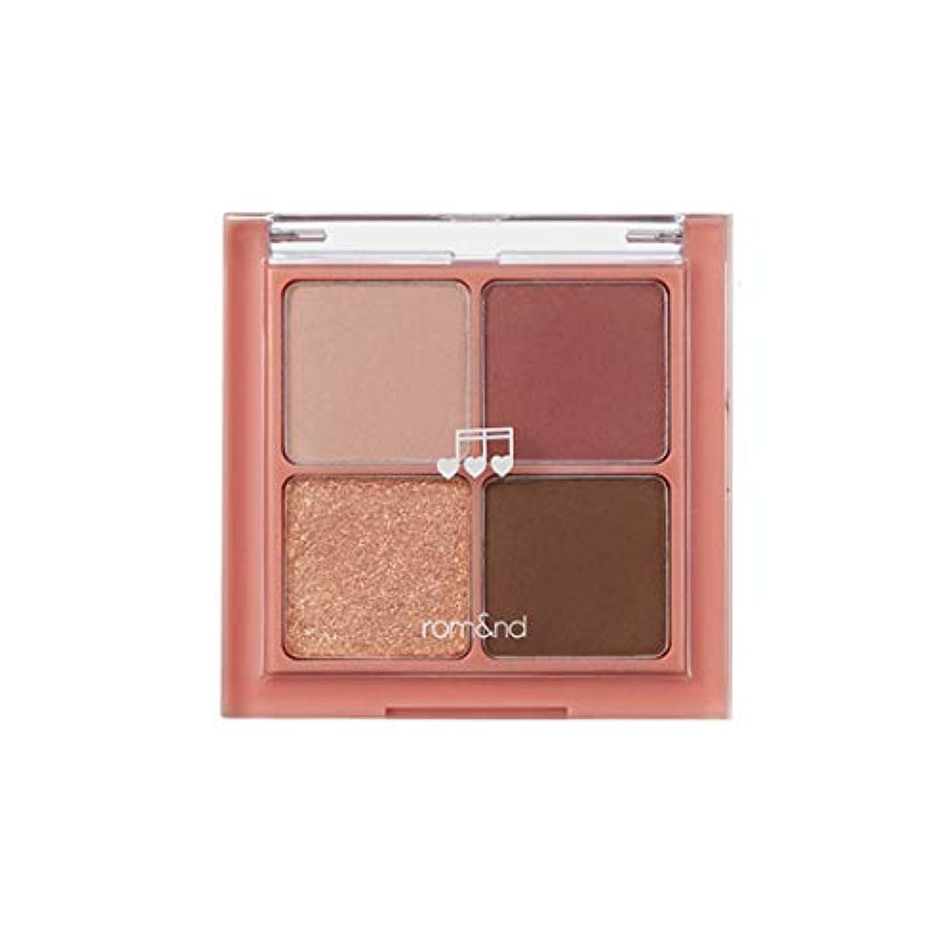 不忠体操一掃するrom&nd BETTER THAN EYES Eyeshadow Palette 4色のアイシャドウパレット # M3 DRY cosmos(並行輸入品)