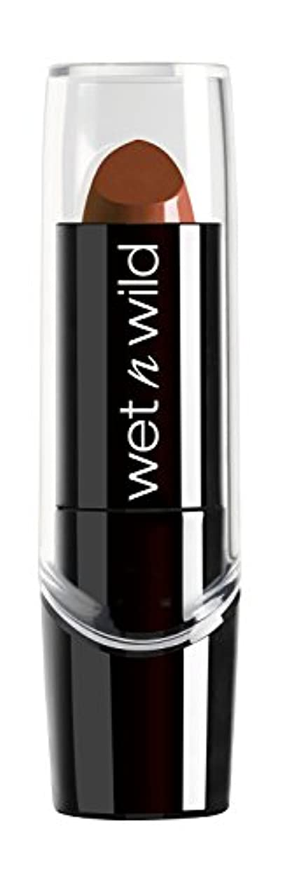 太いカルシウム脅迫WET N WILD Silk Finish Lipstick - Mink Brown (DC) by Wet 'n' Wild