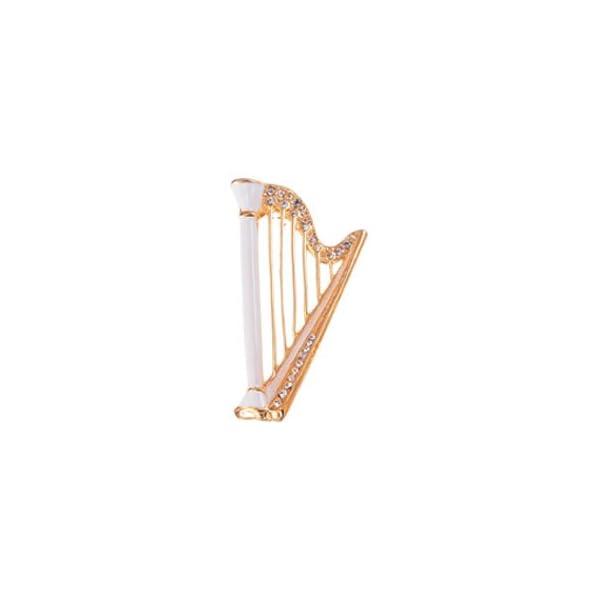 ナカノ エナメルブローチ ハープ ホワイト JE...の商品画像