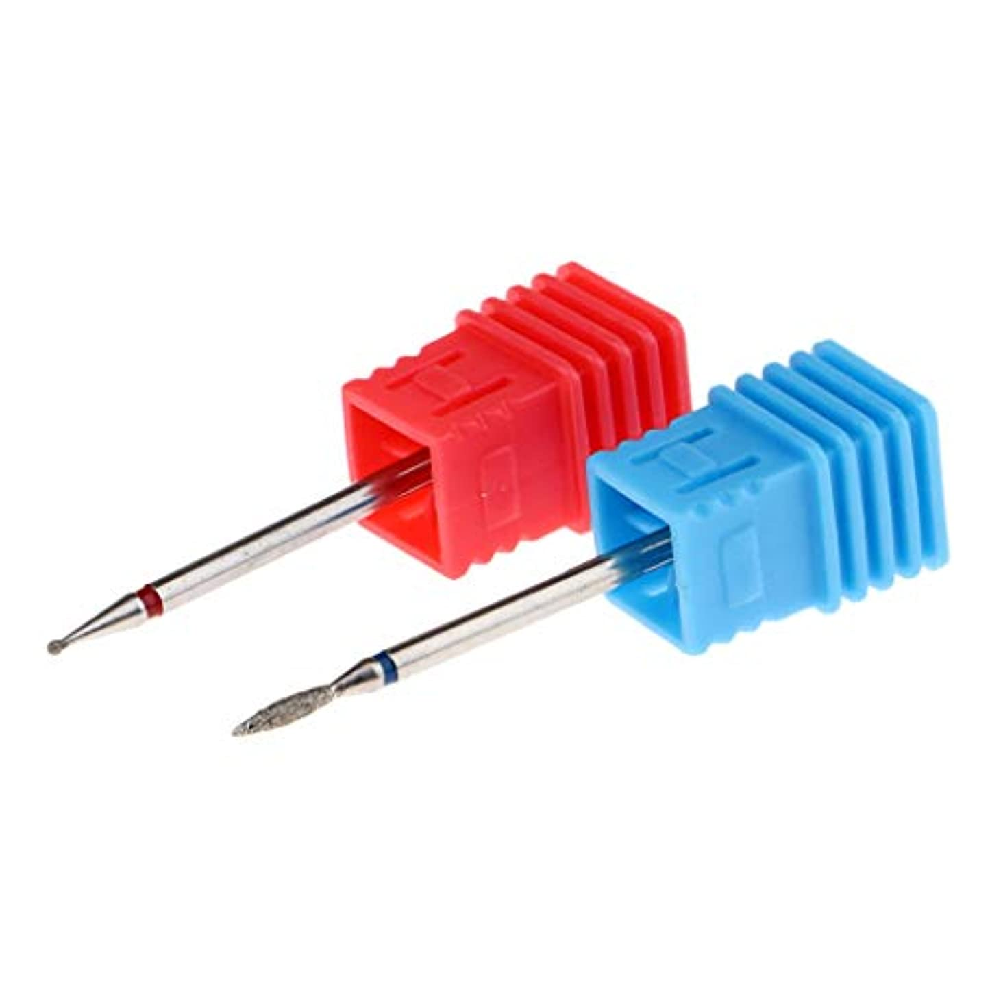 忠実通信網アウターネイルドリル ネイルオフ 電動ネイルマシーン用 超硬 耐久性 2本セット 9色選択 - 03