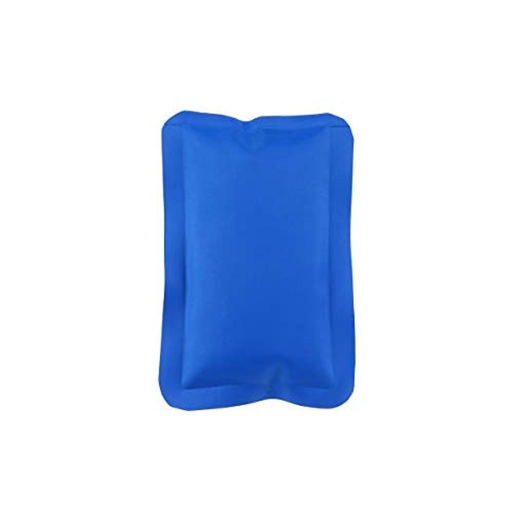 ぼかすレオナルドダ未払いHEALLILY 150ML再利用可能なホット&コールドジェルパック(コンプレッションラップスポーツ傷害)ジェルアイスパック多目的ヒートパック(マッスルリリーフ用、16x10x1cm、ブルー)