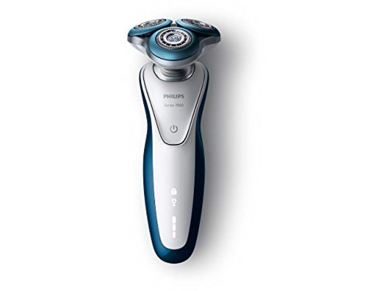 周囲独特の公フィリップス 7000シリーズ メンズ 電気シェーバー 72枚刃 回転式 お風呂剃り & 丸洗い可 トリマー付 S7520/12