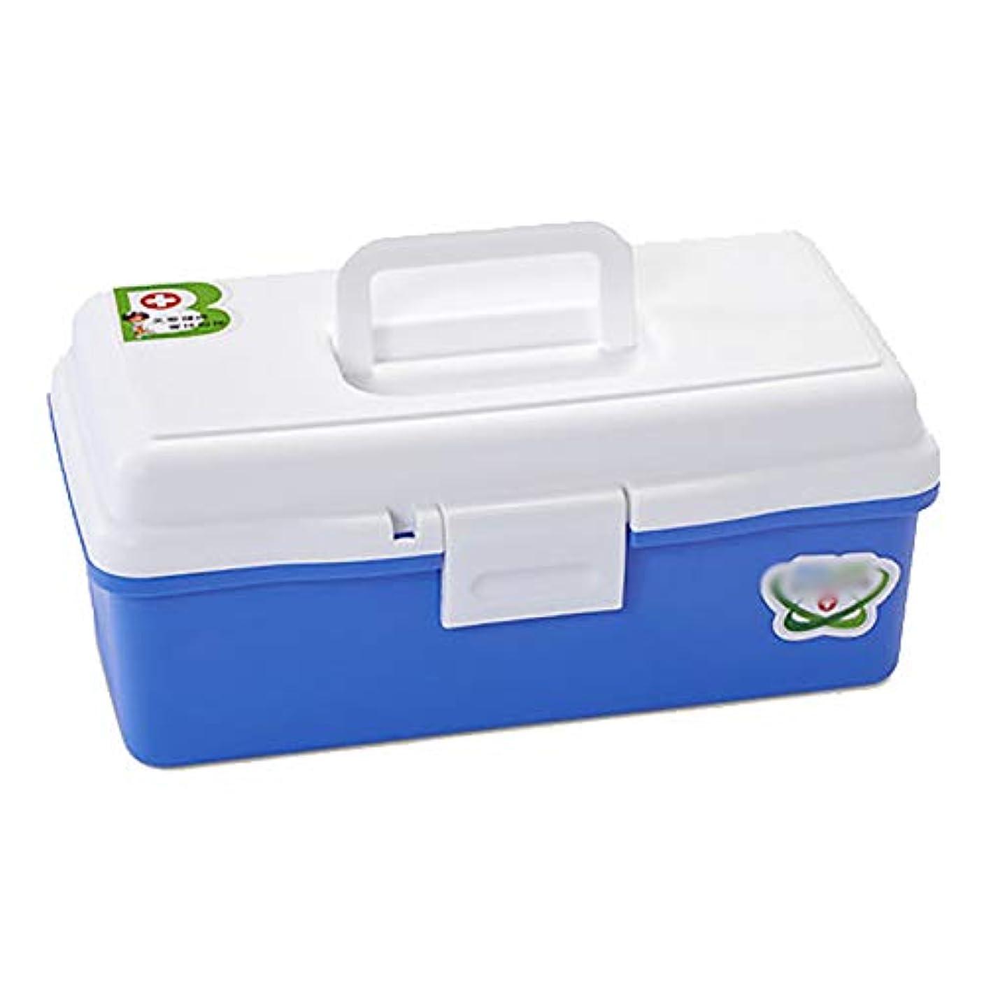 ポンド整理する三二重層ボックス医療収納ボックス胸部、プラスチックビン手キャリー薬ピル収納応急処置キットケースボックス家庭用多層家庭医学コンテナ含まれていない応急処置用品