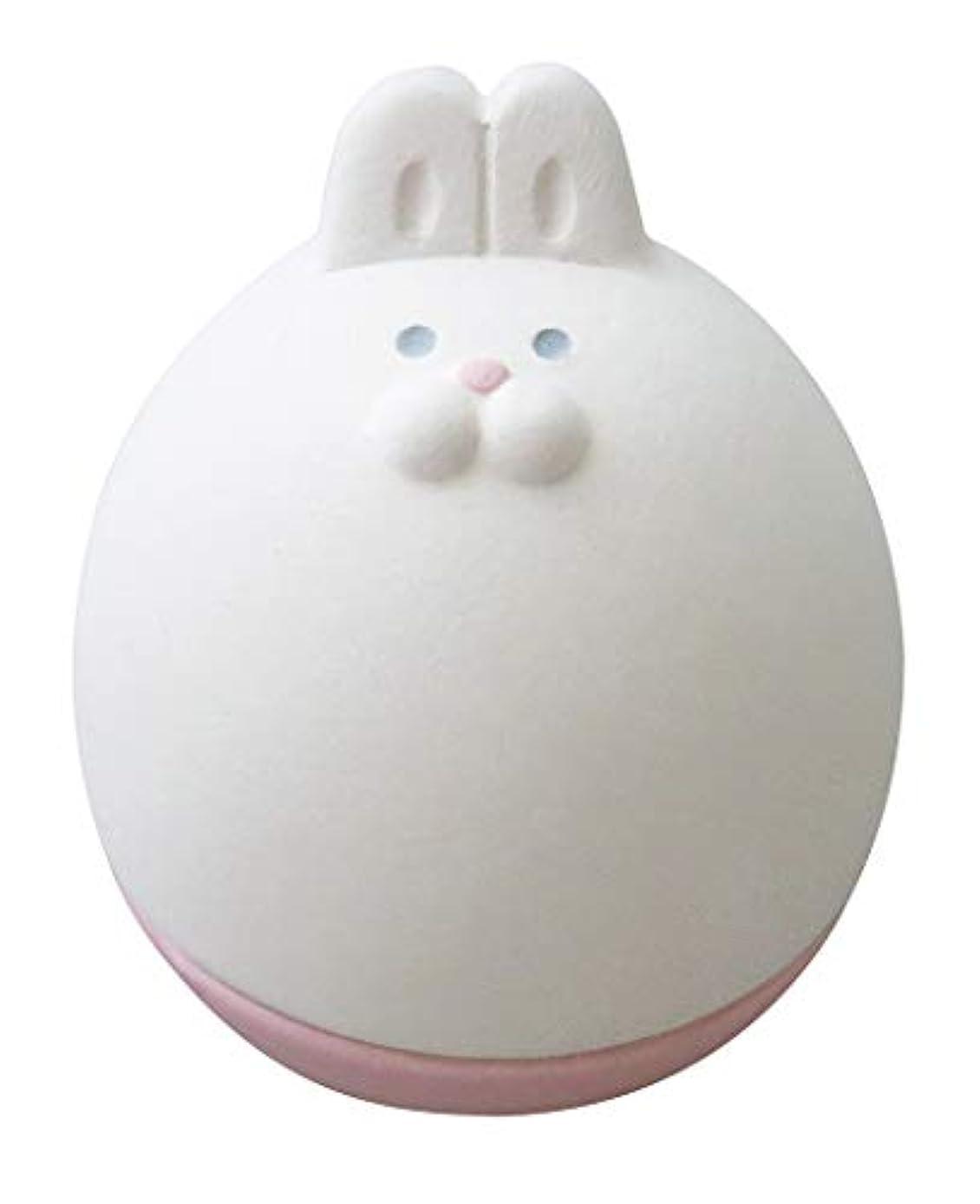 学士コンプリート優勢デコレ(DECOLE) アロマおきあがりこぼし ホワイト 5.0×5.7×h6.3 うさ AG-92303