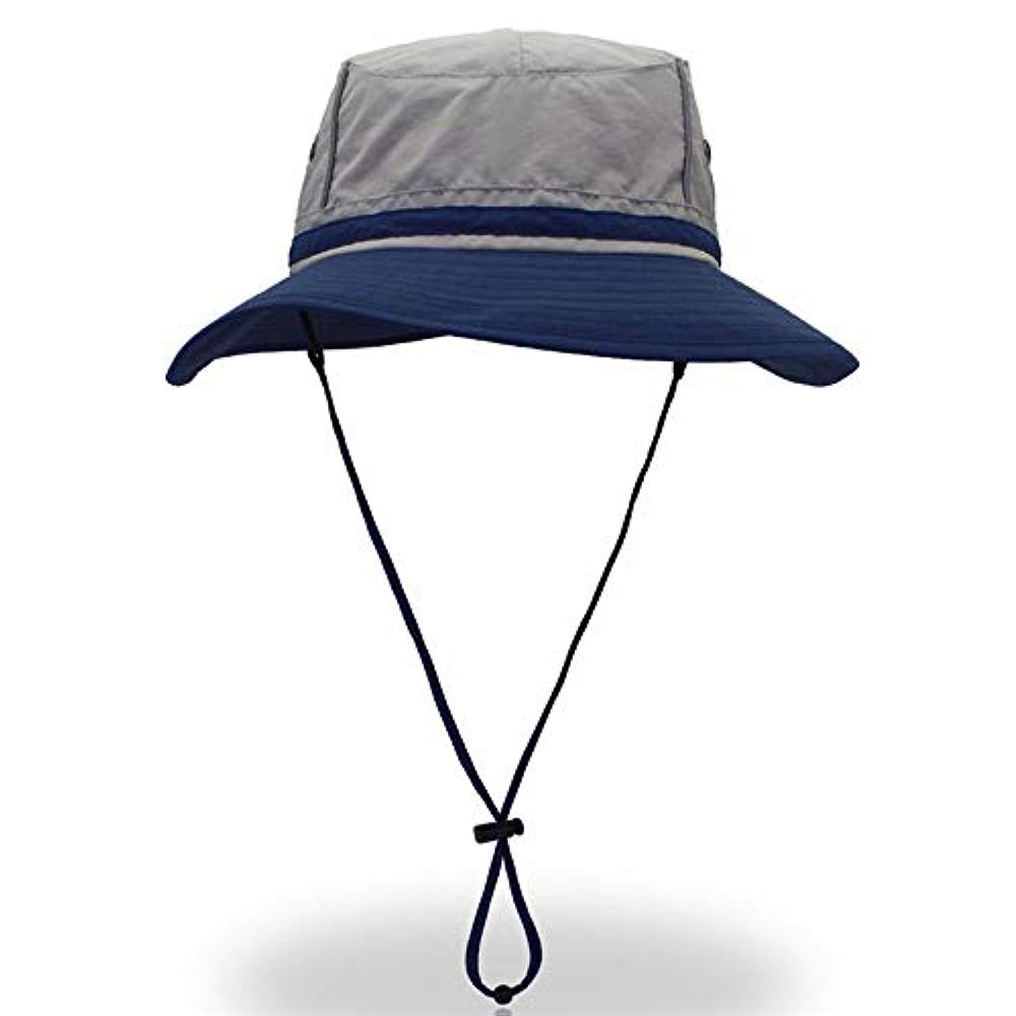 シリング自動キュービック釣りブーニーハット、女性男性UPF 50+ UVプロテクション広いつばの夏の屋外ビーチフィッシングハットのための日焼け止め、釣りのための屋外の帽子、キャンプ、サファリ。