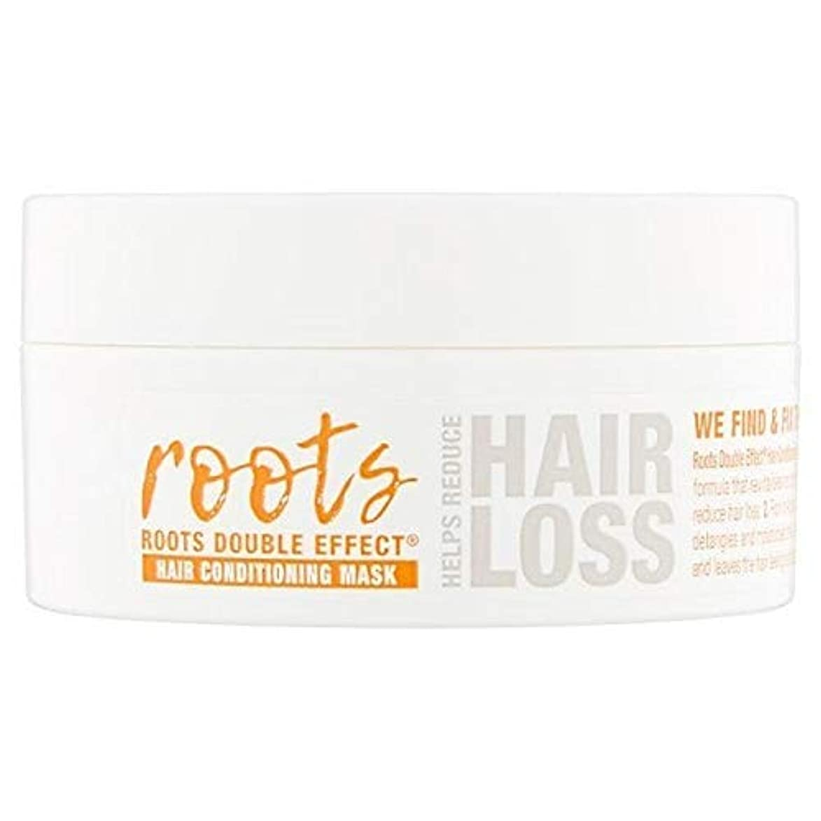 噛む普及用語集[Roots ] 根のダブル効果ヘアコンディショニングマスク200ミリリットル - Roots Double Effect Hair Conditioning Mask 200ml [並行輸入品]