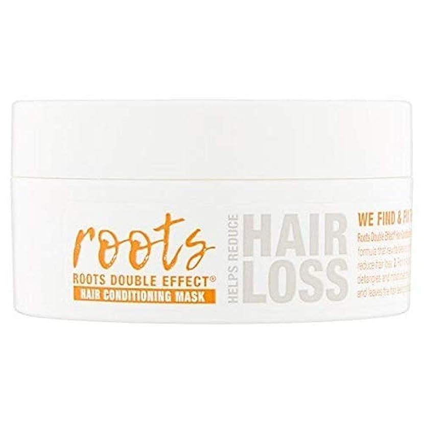 デュアル不快な旅客[Roots ] 根のダブル効果ヘアコンディショニングマスク200ミリリットル - Roots Double Effect Hair Conditioning Mask 200ml [並行輸入品]