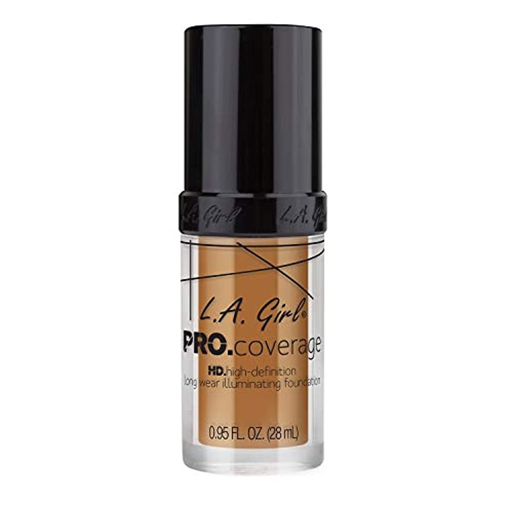ただ成熟した健全L.A. Girl Pro Coverage Illuminating Foundation - Bronze (並行輸入品)