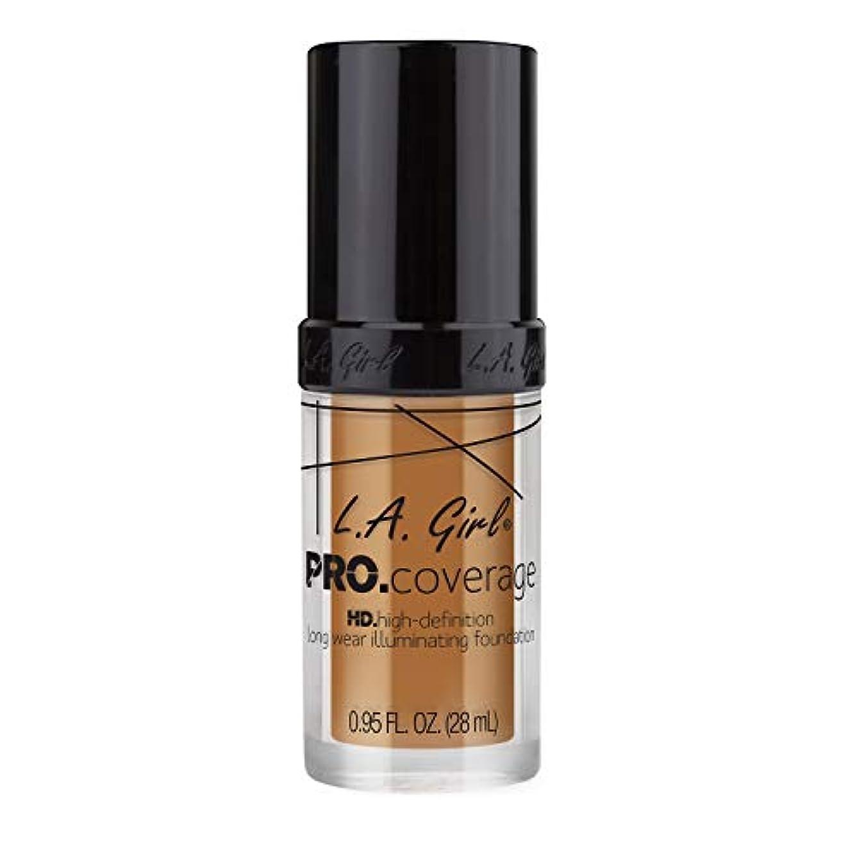 レインコートおいしい電池L.A. Girl Pro Coverage Illuminating Foundation - Bronze (並行輸入品)