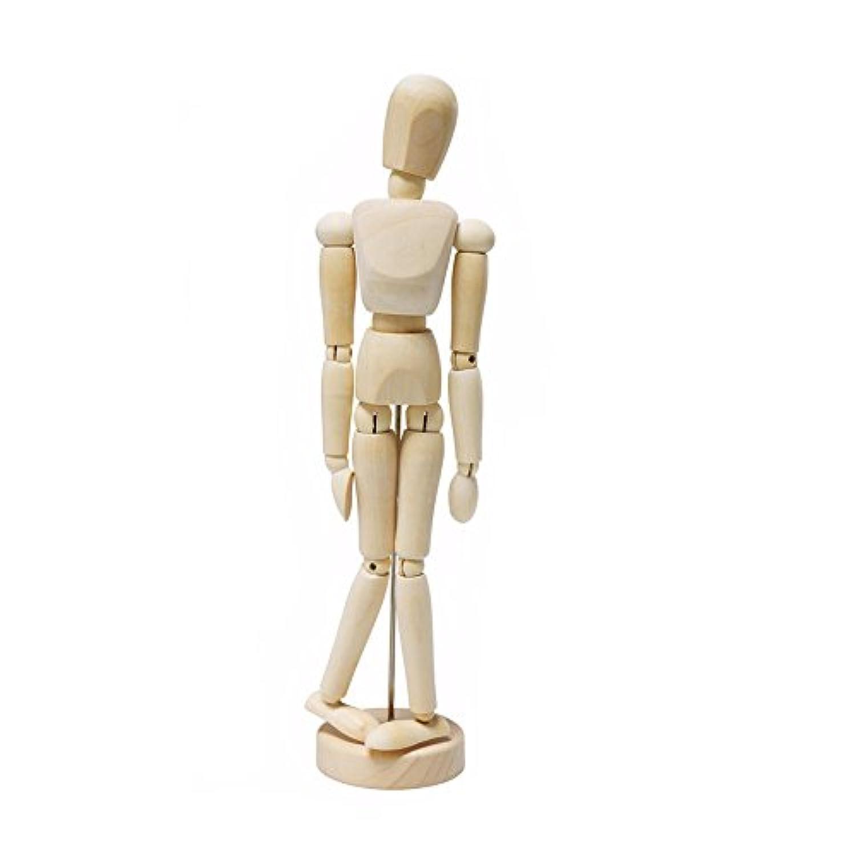 MyMei 14の関節で多彩なポーズを再現!  デッサン 人形 モデル 木製人体 人体模型 画材 知育玩具 幼児教育  (14cm)