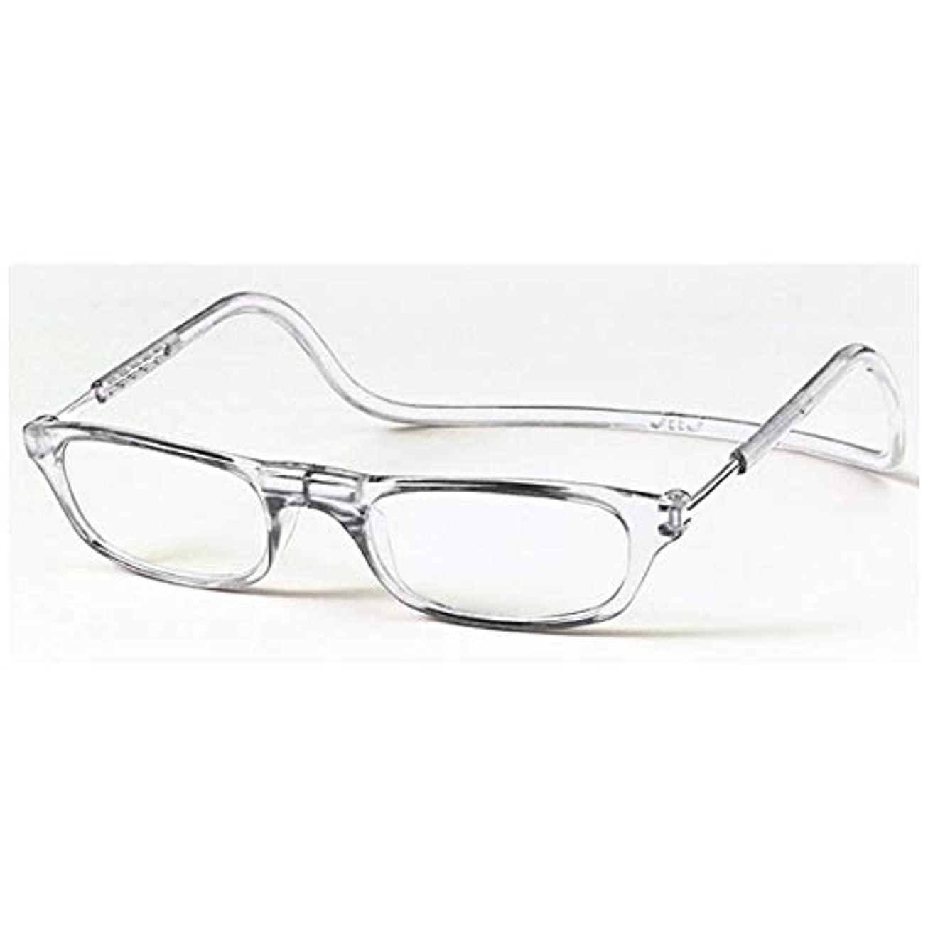 エンコミウム公然と登る老眼鏡 CliC readers(クリック リーダー) クリアー +3.00