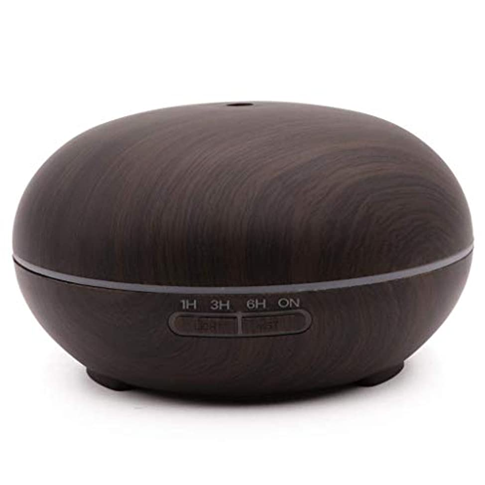 彼ら震える断片Aimemiy家庭用ウッドグレイン噴霧加湿器エッセンシャルオイルスプレッダーミュート加湿300ミリリットルアロマテラピーマシン、ダークウッドグレイン、ダークウッドグレイン (Color : Dark Wood Grain)