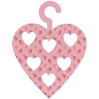 (シージービー?ギフトウェア) CGB Giftware Worlds Best Mum ハート スカーフハンガー スカーフ掛け 収納 (ワンサイズ) (ピンク)