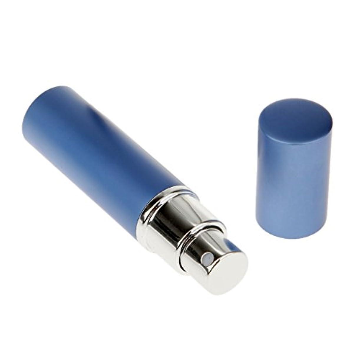 比類のない無線市の中心部男女兼用 詰め替え可能 ポータブル アルミ ガラス製 香水アトマイザー 空ボトル ポンプ 青