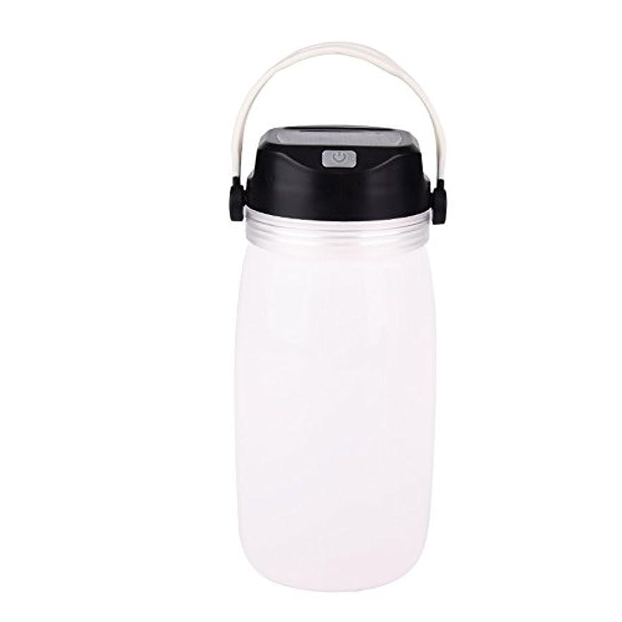納税者入場料豊富なSMD LEDランタン 水筒 収納ケース ソーラー充電 USB 生活防水 高輝度 軽量 携行 折り畳み式 非常用 シリコン アウトドア