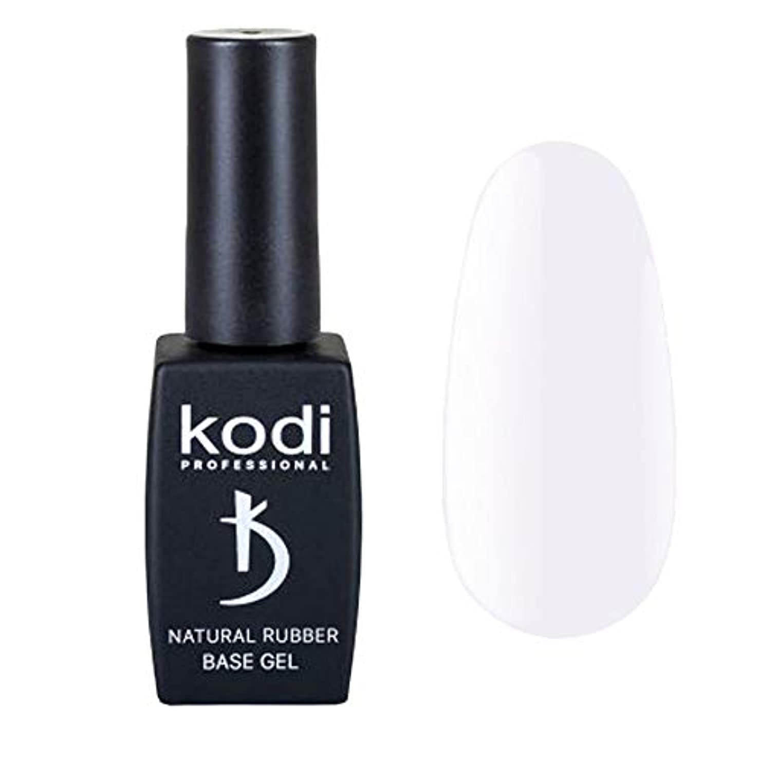 ヒール置換凝視Kodi Professional New Collection BW White #10 Color Gel Nail Polish 12ml 0.42 Fl Oz LED UV Genuine Soak Off