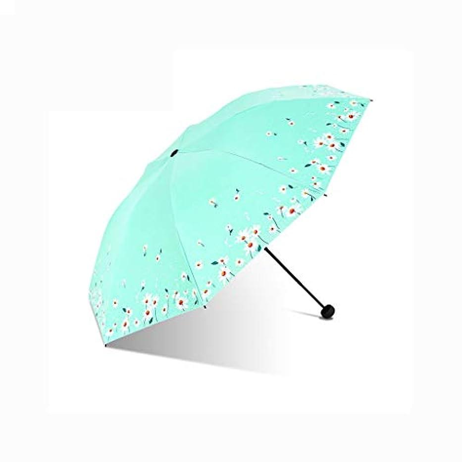 受信本会議コインランドリー日傘、自動開閉開閉旅行傘強化換気と防風フレームポータブルコンパクト折りたたみ軽量デザインと高い耐風性 (Color : Green, Size : L)