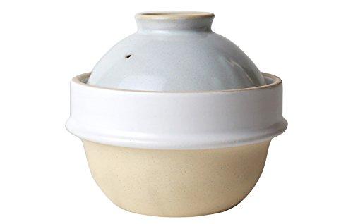 土鍋(土釜)でご飯 益子焼つかもと kamacco 1合炊き用 直径14cm(白)
