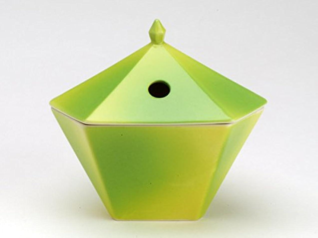 推測濃度食事縁香炉 黄緑