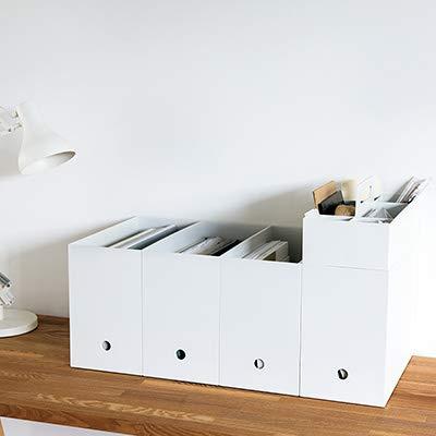ポリプロピレン ファイルボックス スタンダードタイプ ワイド A4 ホワイトグレー 約15×32×24...