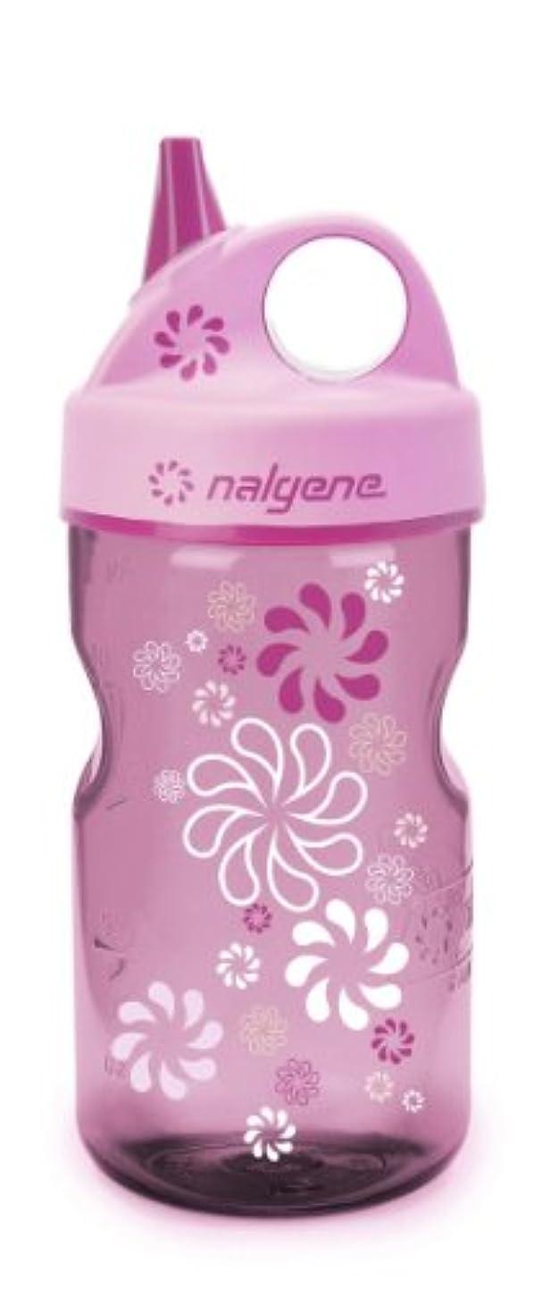 前者段階ナンセンスナルゲングリップ-N-ガルプウォーターボトル(ピンクホイール、12オンス)