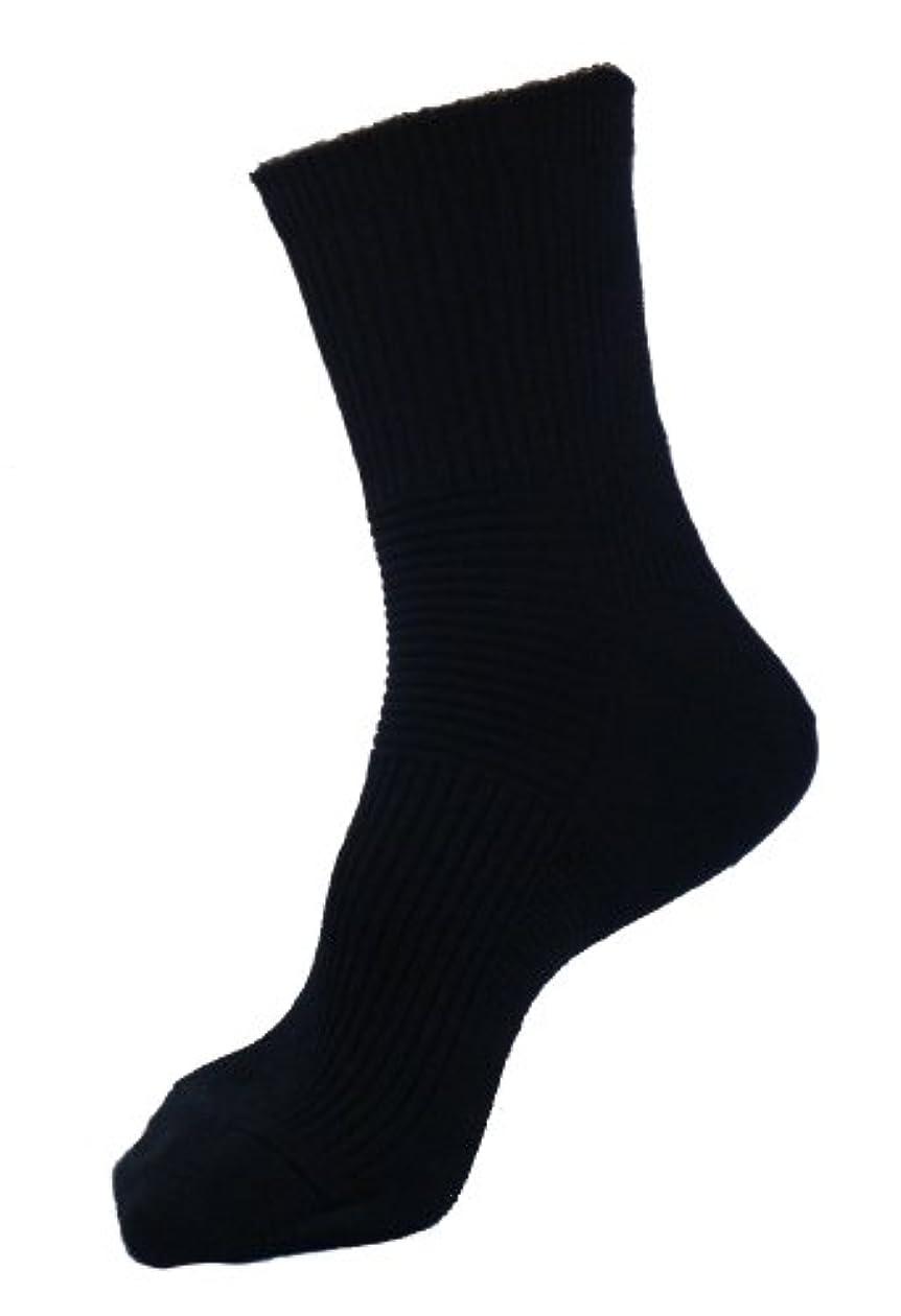 シーサイド厚い優先エンバランス サポートソックス M(22~24cm) ブラック T4541
