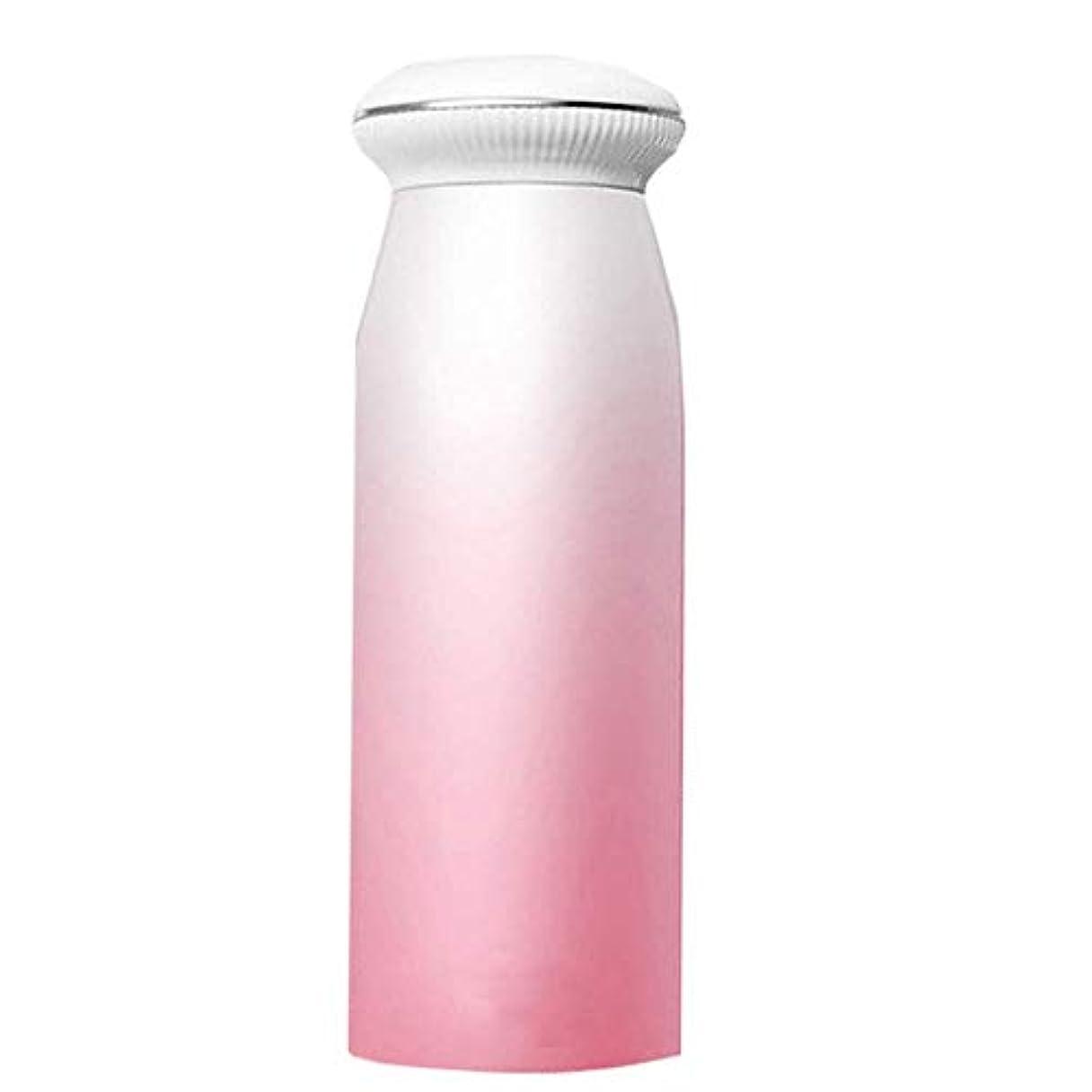 申し立てコンチネンタルブレイズ魔法瓶 ポータブルウォーターボトル学生漫画子供男性と女性のかわいいミニ新鮮な文学のティーカップ 飛散防止 (色 : ピンク)