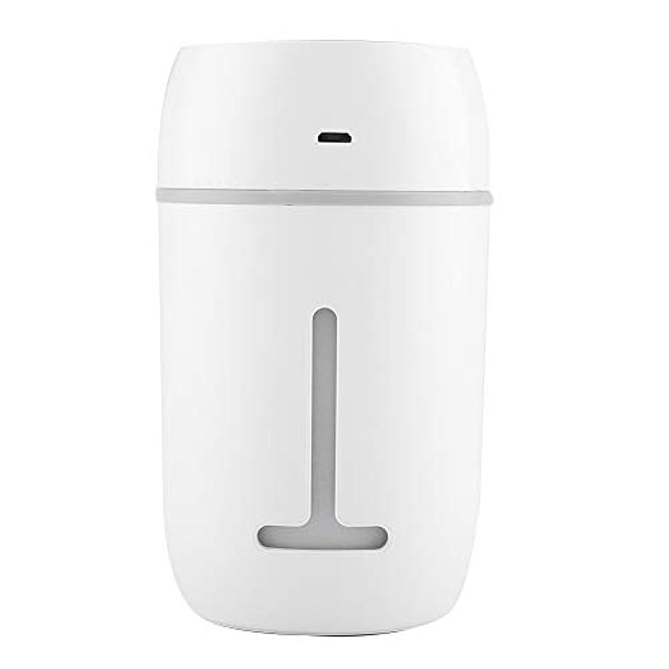 所持コインランドリー健康的ミニUSB加湿器、超音波クールミスト加湿器充電式ポータブルカーオフィス加湿器ディフューザー7色LEDライト