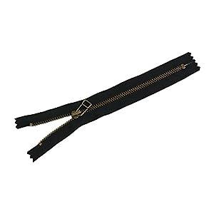 Y.K.K ワイケイケイ 金属ファスナー 20cm 黒 4LFAG20-580