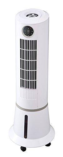 リモコン付き スリムタワー冷風扇 ホワイト EFT-1601WH