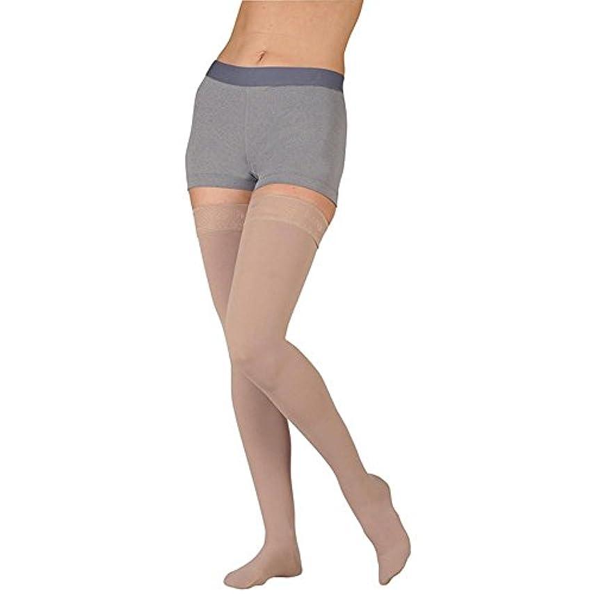 苦難マイル大事にするJuzo 3511ダイナミック( Varin )ソフトClosed Toe Thigh Highs W / Siliドットband- 20 – 30 mmHg