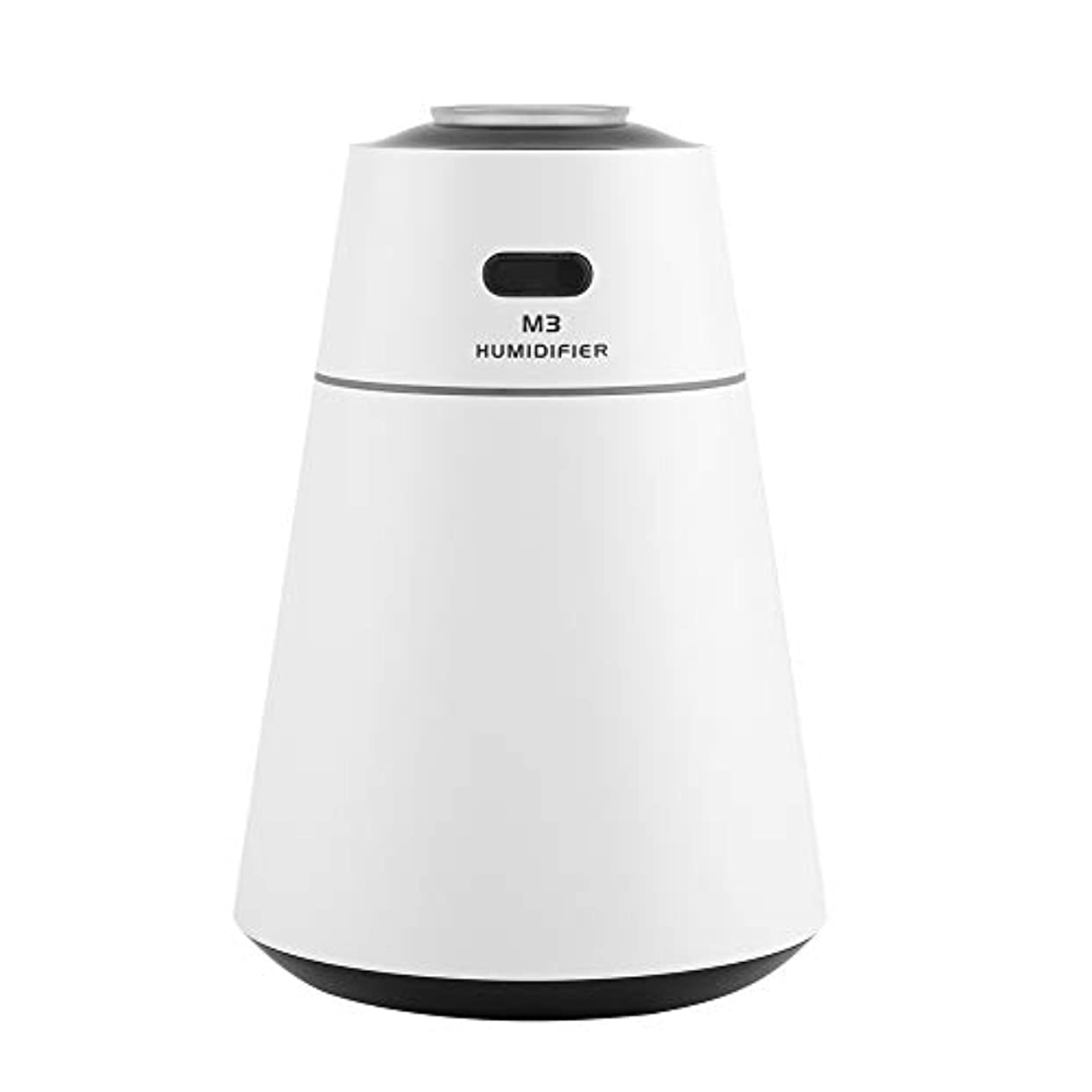 赤面ブロック円周投影の拡散器、オフィスの家のためのUSBの極度の超音波加湿器の拡散器7色の夜ライト(白)