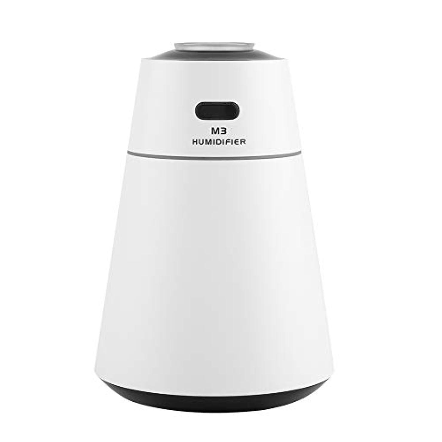 混沌難民ご注意投影の拡散器、オフィスの家のためのUSBの極度の超音波加湿器の拡散器7色の夜ライト(白)