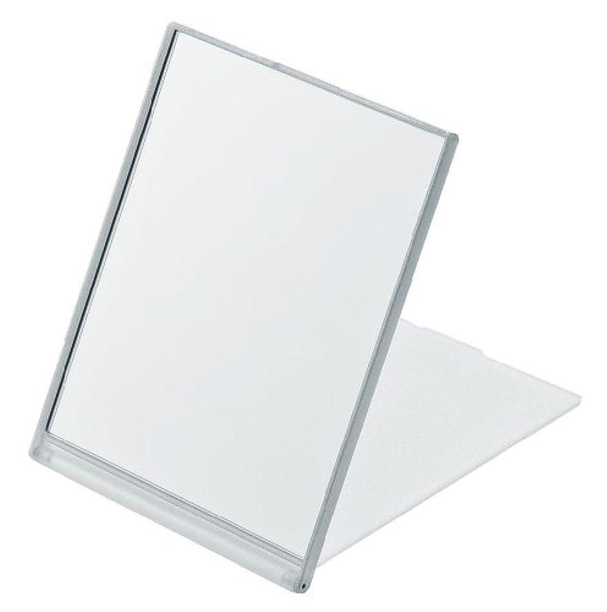 捧げる強いますフリッパー角型コンパクトミラー L ホワイト YLA-901