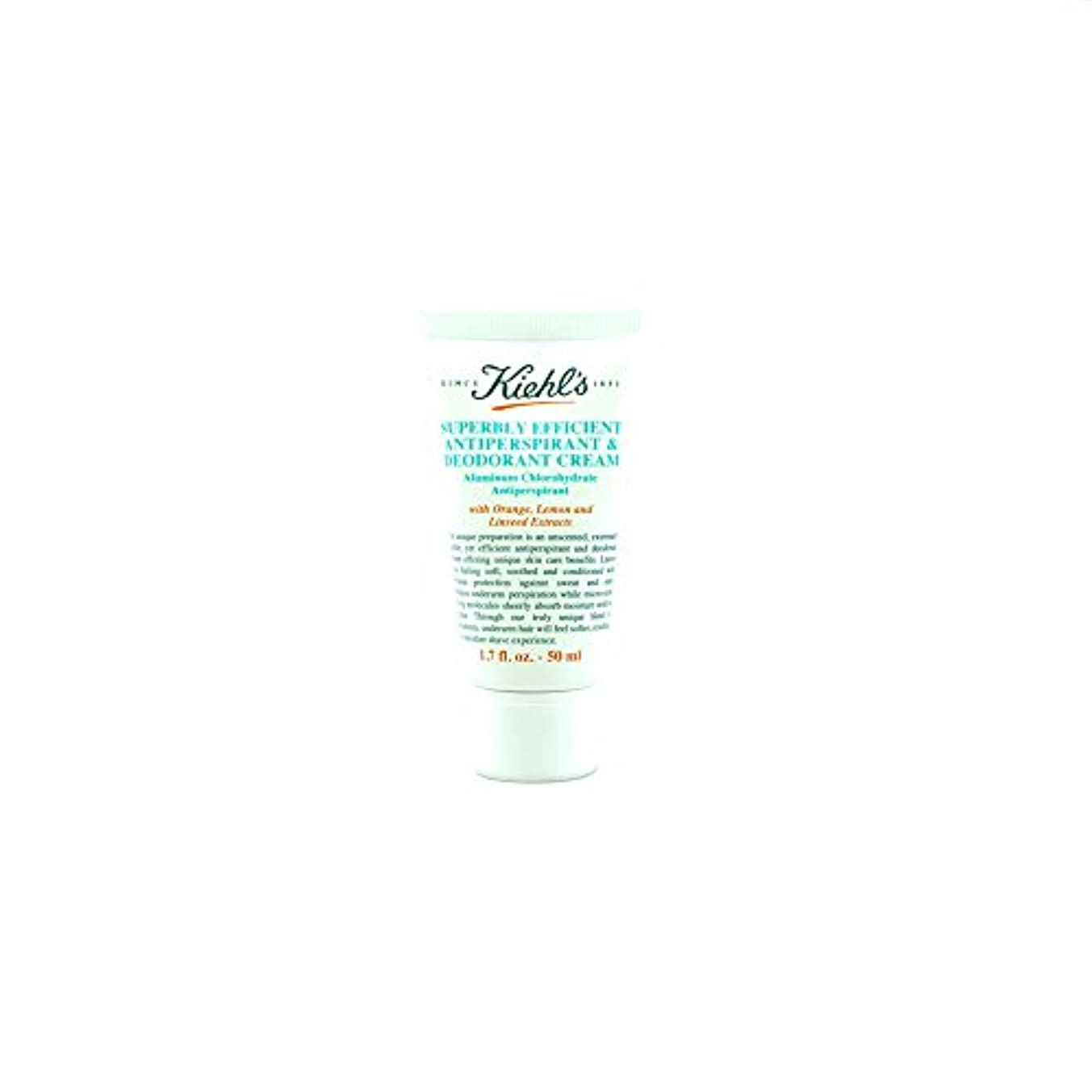 全体に現実にはオープニングKiehl's Superbly Efficient Anti Perspirant & Deodorant Cream - Small Size 1.7oz (50ml)