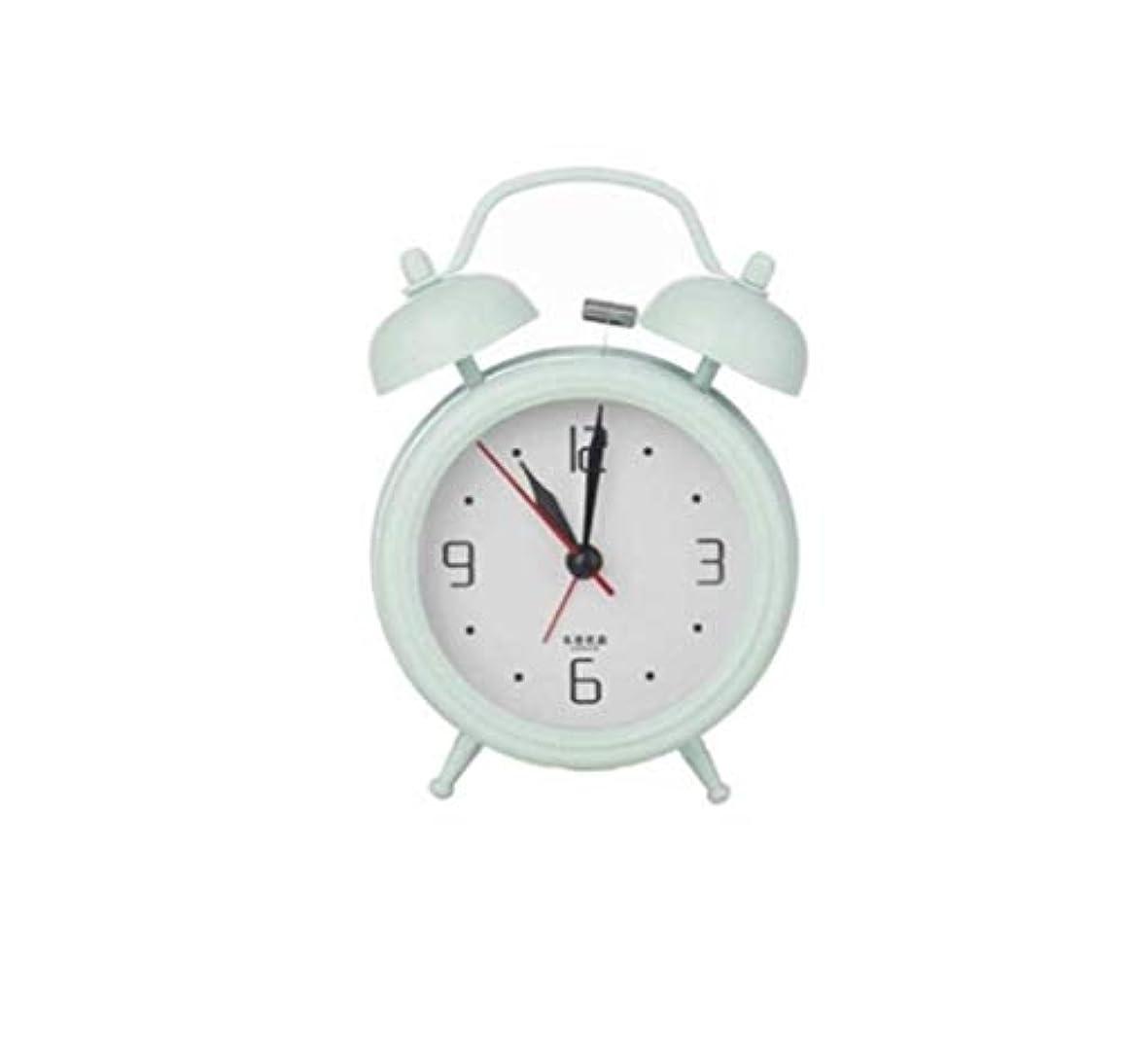 くぼみ払い戻し良性Kaiyitong001 目覚まし時計、レトロなベルの目覚まし時計、毎日の使用、家の装飾、モダンな白い家の装飾(緑、白) (Color : Green)
