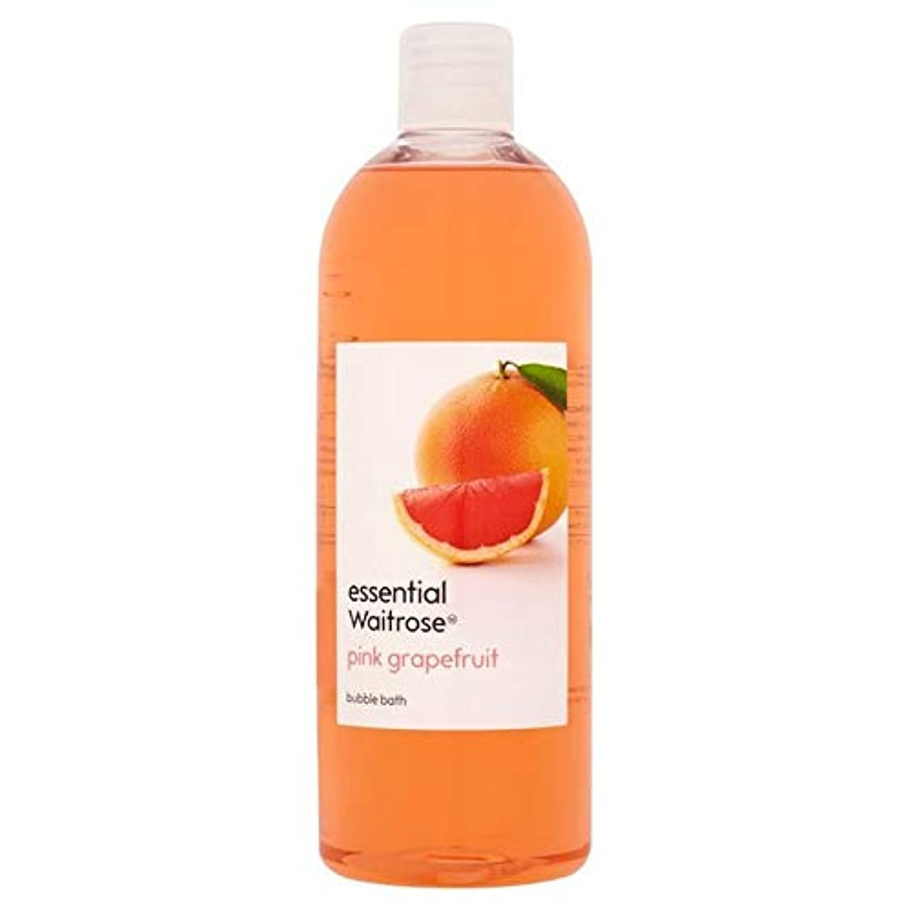 スカートフォークヘロイン[Waitrose ] 基本的なウェイトローズの泡風呂ピンクグレープフルーツ750ミリリットル - Essential Waitrose Bubble Bath Pink Grapefruit 750ml [並行輸入品]