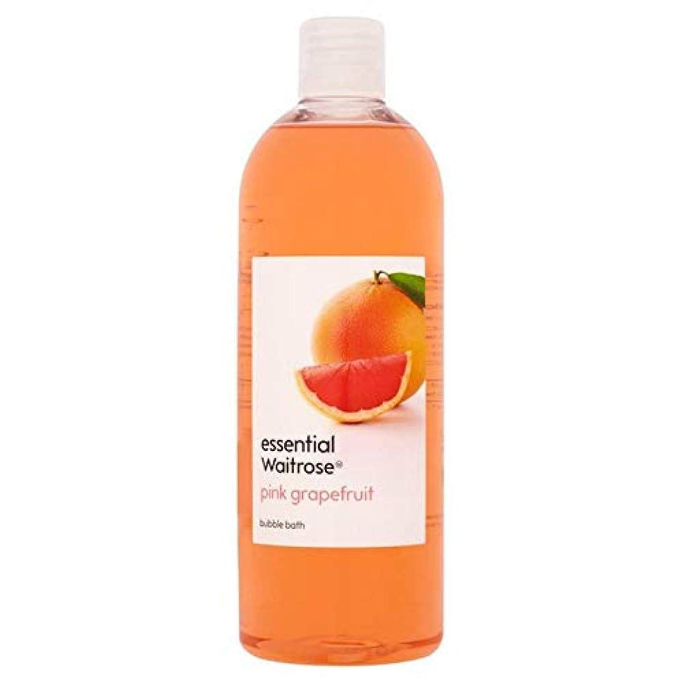 葬儀自発助手[Waitrose ] 基本的なウェイトローズの泡風呂ピンクグレープフルーツ750ミリリットル - Essential Waitrose Bubble Bath Pink Grapefruit 750ml [並行輸入品]