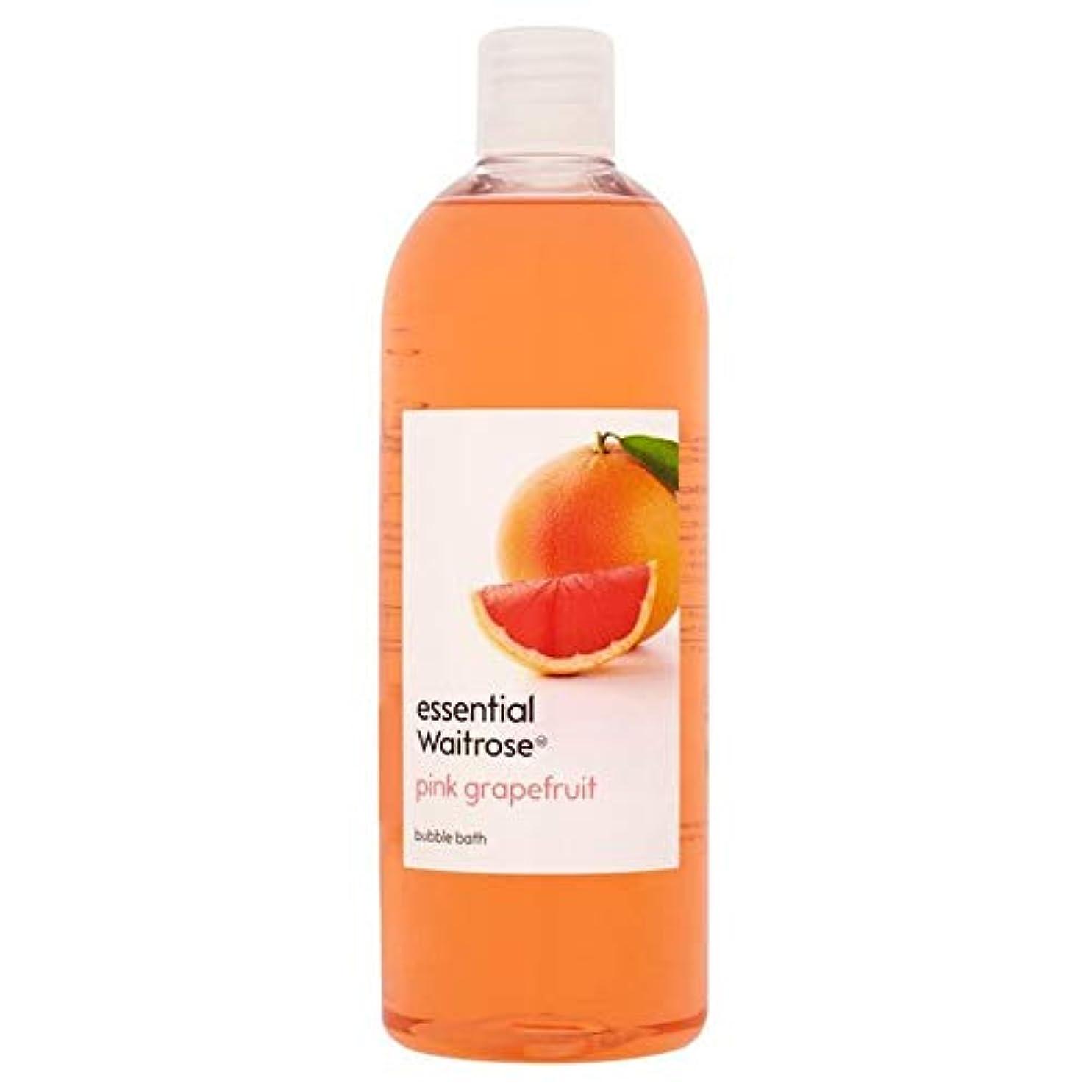 成長するリスク適切な[Waitrose ] 基本的なウェイトローズの泡風呂ピンクグレープフルーツ750ミリリットル - Essential Waitrose Bubble Bath Pink Grapefruit 750ml [並行輸入品]