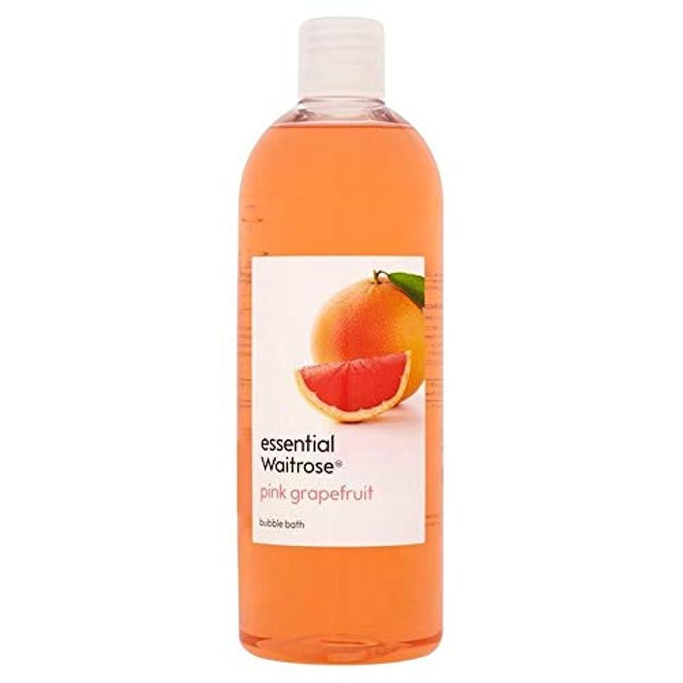 マウントバンク恐怖けがをする[Waitrose ] 基本的なウェイトローズの泡風呂ピンクグレープフルーツ750ミリリットル - Essential Waitrose Bubble Bath Pink Grapefruit 750ml [並行輸入品]
