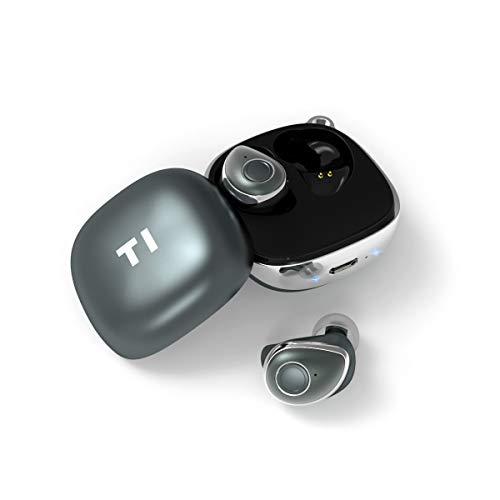 【Bluetooth5.0 進化版】Eonfine Bluetooth イヤホン 完全ワイヤレス イヤホン IPX5防水 高音質 ブルートゥース イヤホン [メーカ1年保証] Siri対応 充電収納ケース付き ワンボタン式 マイク付き 左右分離型 両耳 片耳とも対応 日本語説明書 iPhone Android 対応