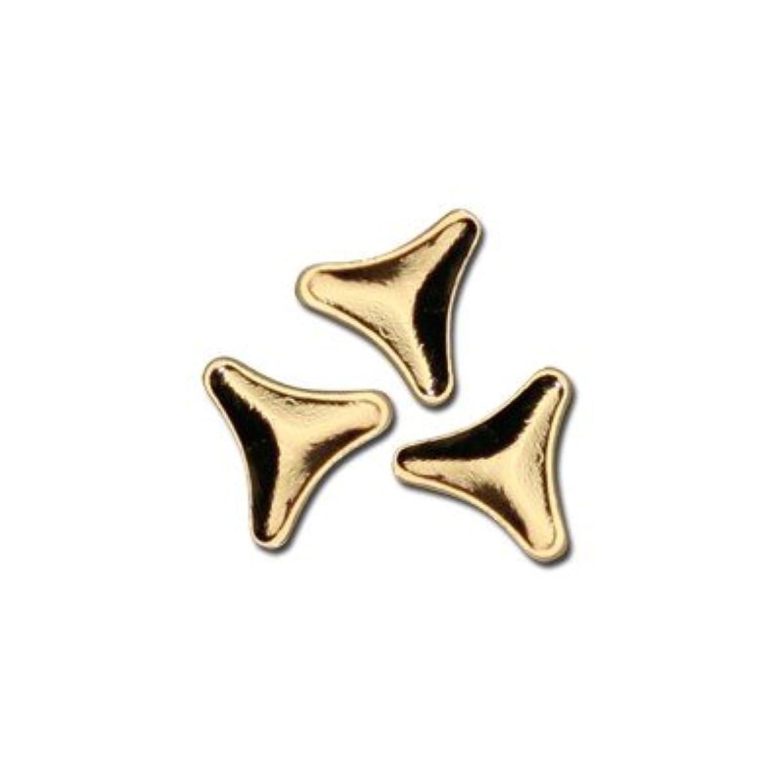 ニコチン修道院二層ピアドラ スタッズ トライアングルマーク 3mm 50P ゴールド